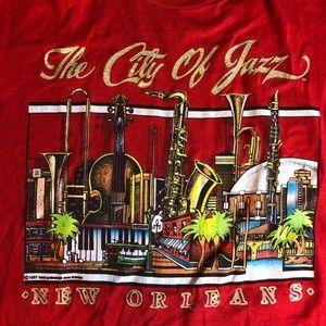 Vintage 1987 City Of Jazz Unisex Made USA T Shirt